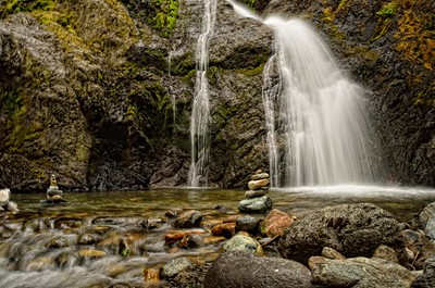 Waterfalls near Mount Shasta